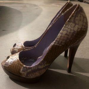 Aldo Snakeskin Pattern Heels